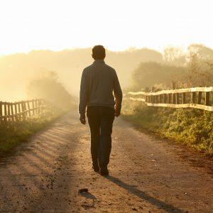Godminster Farm - Richard walking