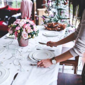Godminster Pink Christmas Table Setting