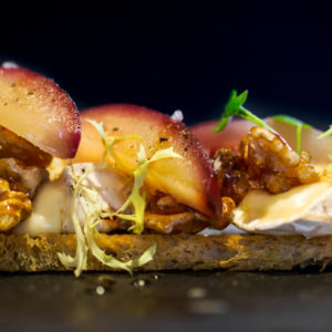 Godminster Brie and Pear Bruschetta