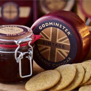 Godminster Vintage Organic Cheddar, Chutney and Biscuits lifestyle