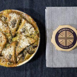 Brie and Portobello Mushroom Strata