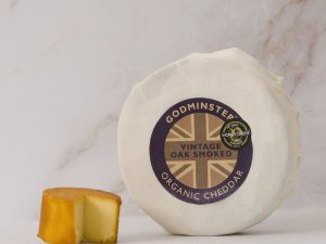 Oak-Smoked Vintage Organic Cheddar from Godminster