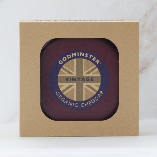 Godminster Vintage Organic Cheddar 1kg in Gift Box