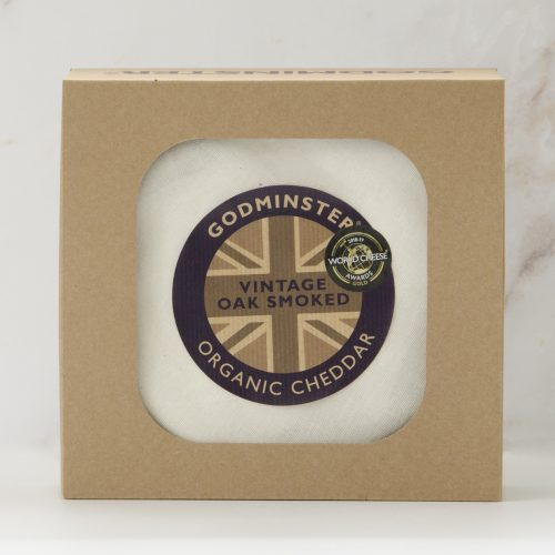 Godminster Oak-Smoked Vintage Organic Cheddar 1kg in Gift Box