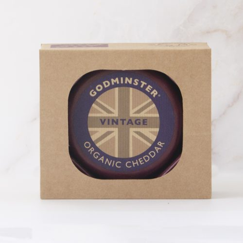 Godminster Vintage Organic Cheddar 400g in a Gift Box