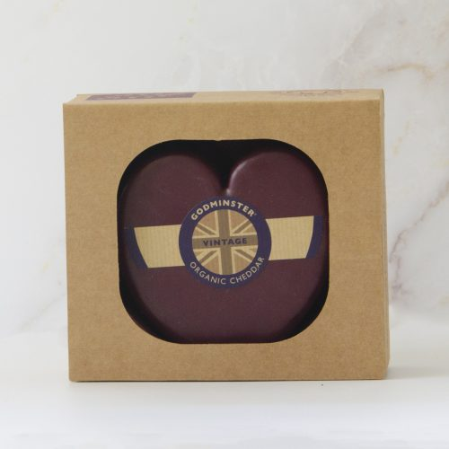 Godminster Heart-Shaped Vintage Organic Cheddar 400g in Gift Box