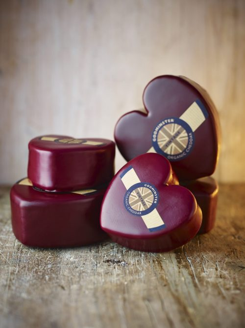 Godminster Heart-Shaped Vintage Organic Cheddar 400g Pile