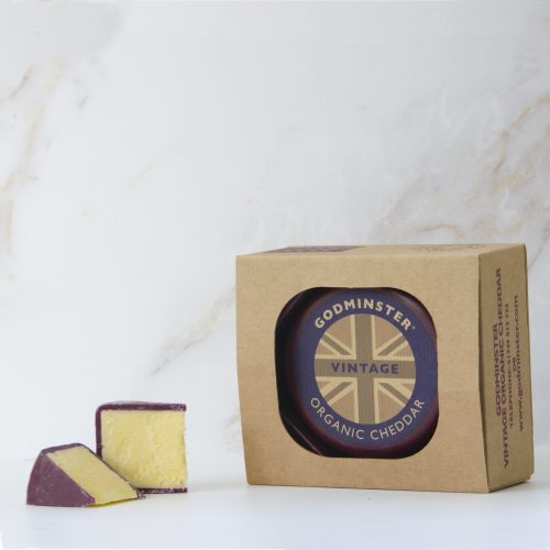 Godminster Vintage Organic Cheddar 400g in Gift Box