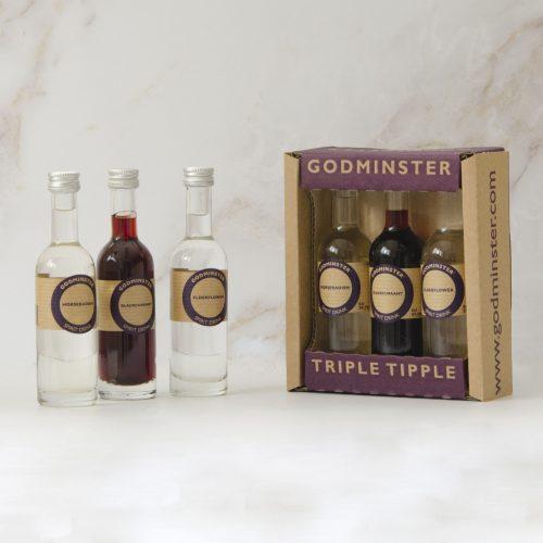 Godminster Triple Tipple Gift Set Vodka Spirit