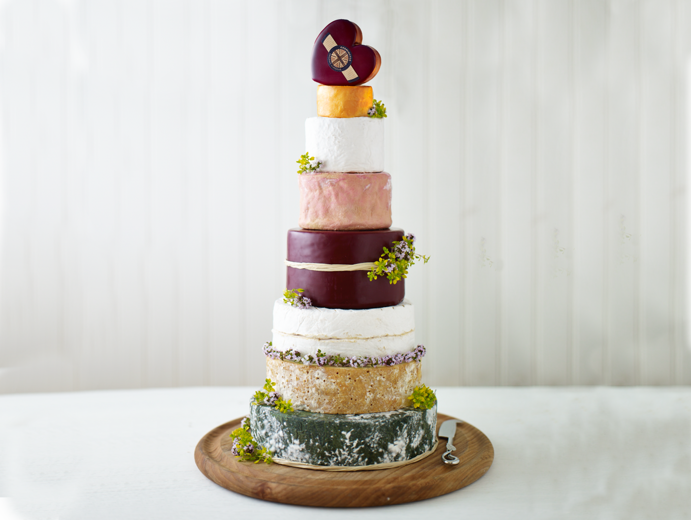 Godminster Wedding Cheese Cake - Available to Order Online - delivery nationwide UK