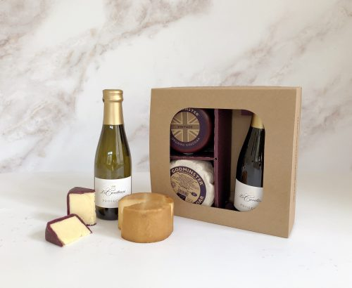 Cheddar and Prosecco Gift Set - Round