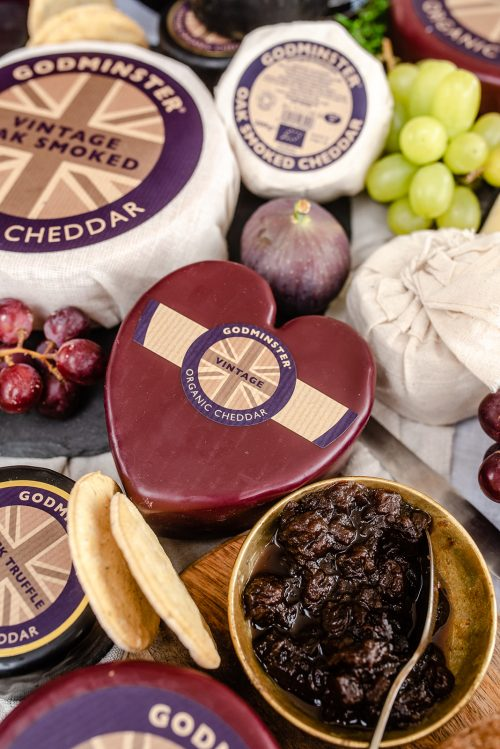 Heart-Shaped Vintage Organic Cheddar from Godminster