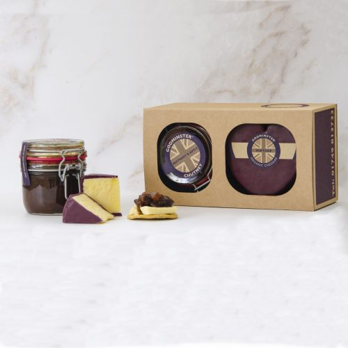 Godminster Heart-Shaped Vintage Organic Cheddar and Chutney Combo