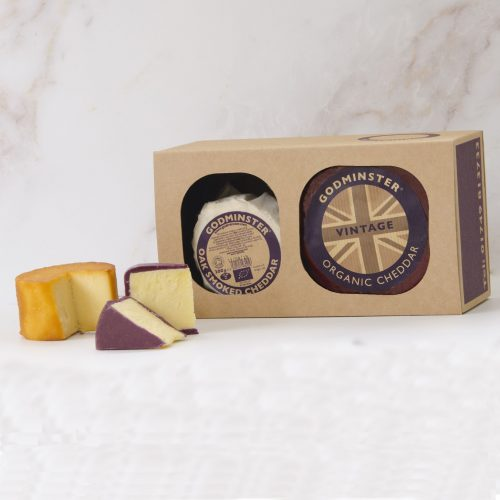 Godminster Cheddar and Oak-Smoked Combo