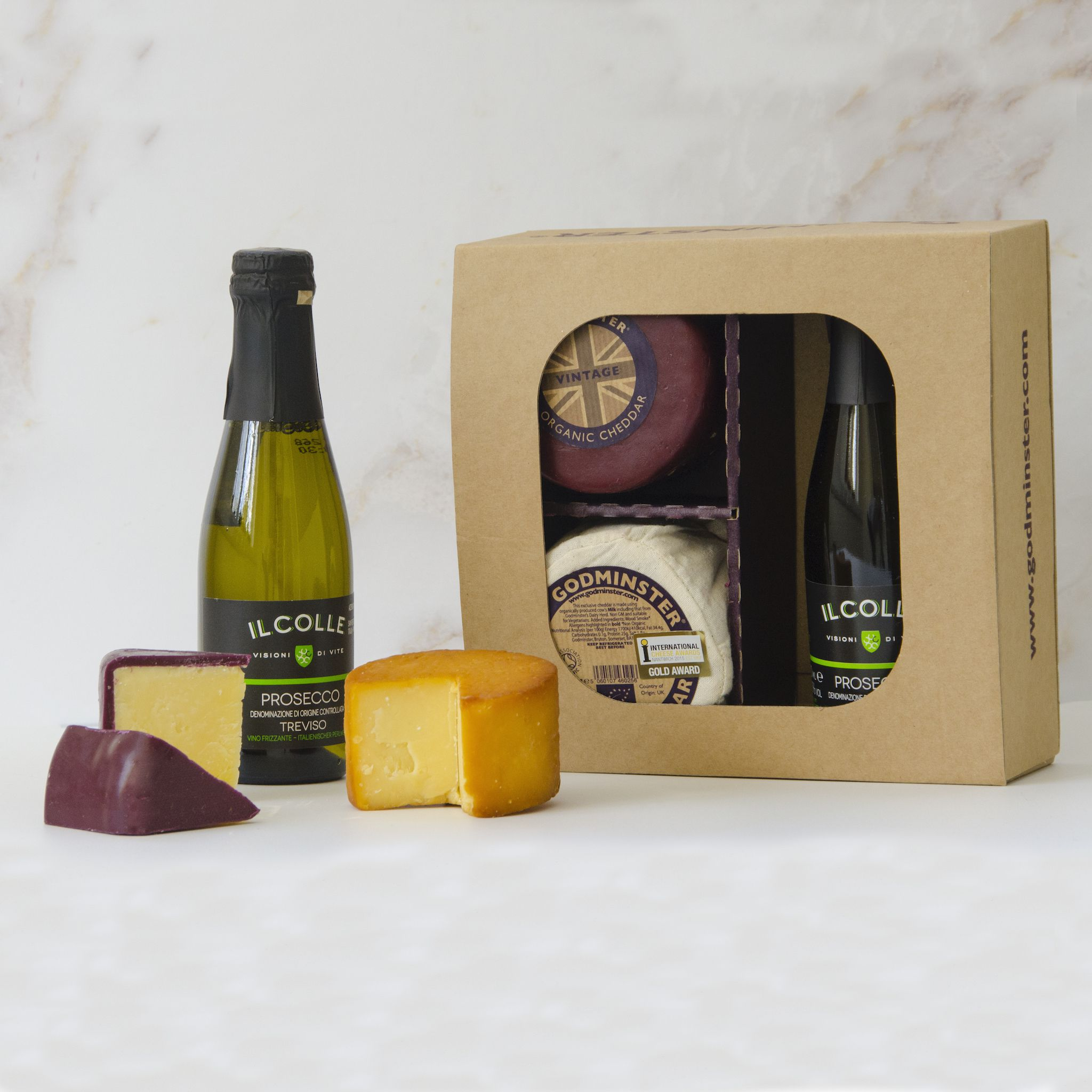 Godminster Cheeseday Prize: Prosecco & Cheese Gift Set