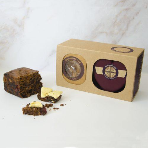 Godminster Vintage Organic Cheddar and Fruit Cake Combo