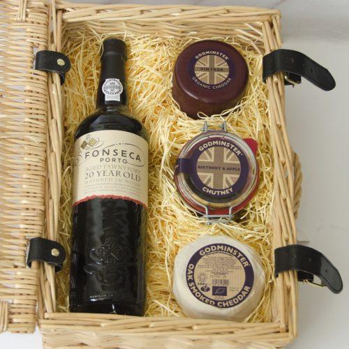Godminster Classic Cheddar and Port Gift Set
