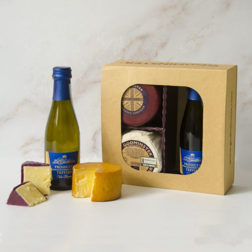 Godminster Prosecco and Cheese Gift Set