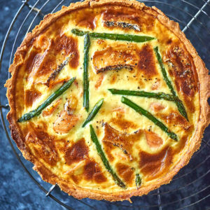 Godminster Smoked Salmon, Asparagus And Brie Tart