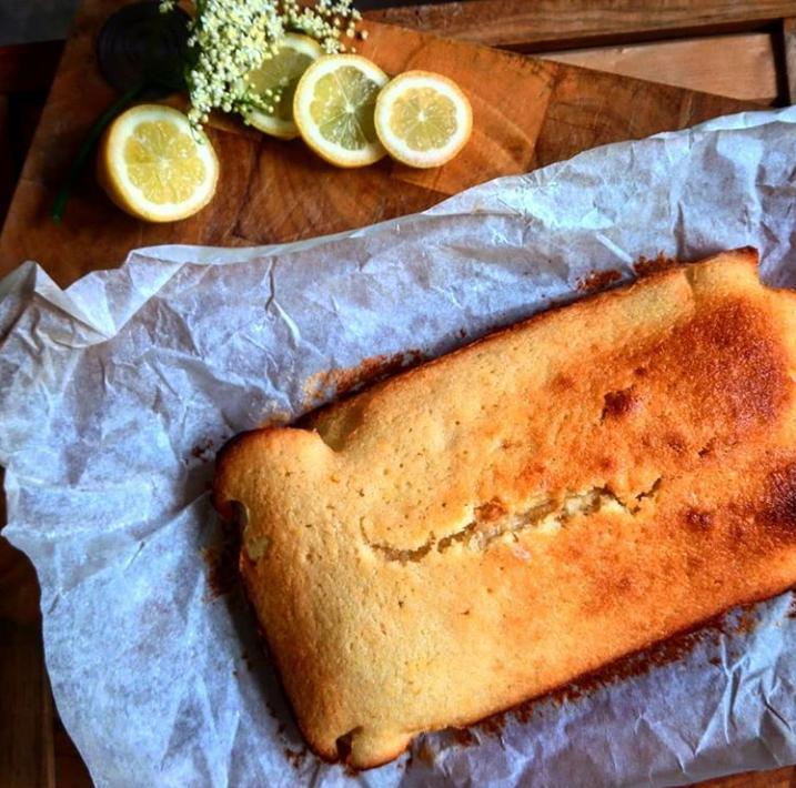 Godminster Elderflower and Lemon Cake