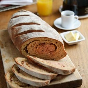 Godminster Cheddar, Beetroot and Bacon Brunch Bread