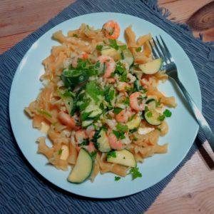 Godminster Cheesy Prawn Pasta and Seggiano Organic Pasta