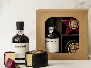Star-Shaped Vintage Organic Cheddar, Black Truffle Vintage Organic Cheddar and Port After Dinner Gift Set