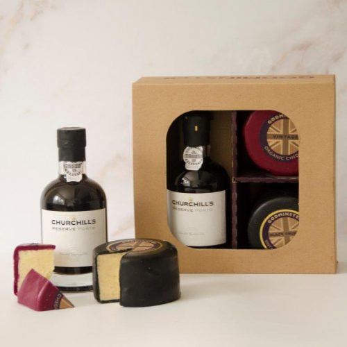 Vintage Organic Cheddar, Black Truffle Vintage Organic Cheddar and Port After Dinner Gift Set