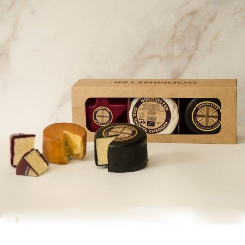 Triple Cheddar Collection with Star-Shaped Vintage Organic Cheddar and Black Truffle Vintage Organic Cheddar