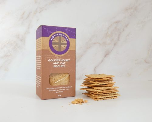 80g Golden Honey and Oat Crackers with crackers