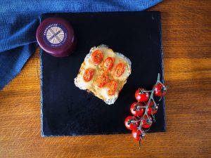 Ricardo's Godminster Cheddar & Tomato Open Toastie With Mustard