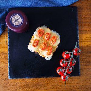 Ricardo's Godminster Cheddar & Tomato Open Toastie With Mustard