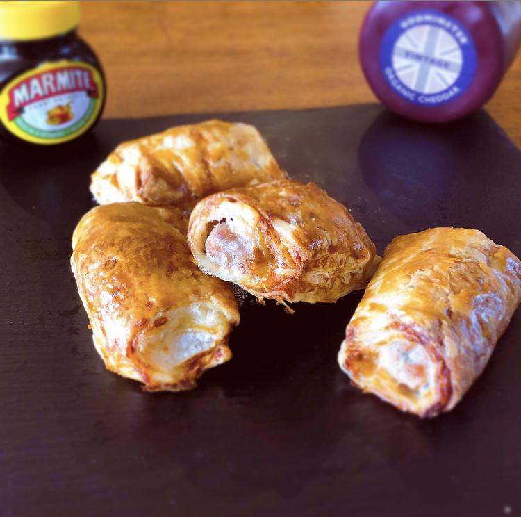 Godminster Vintage Organic Cheddar and Marmite Sausage Roll