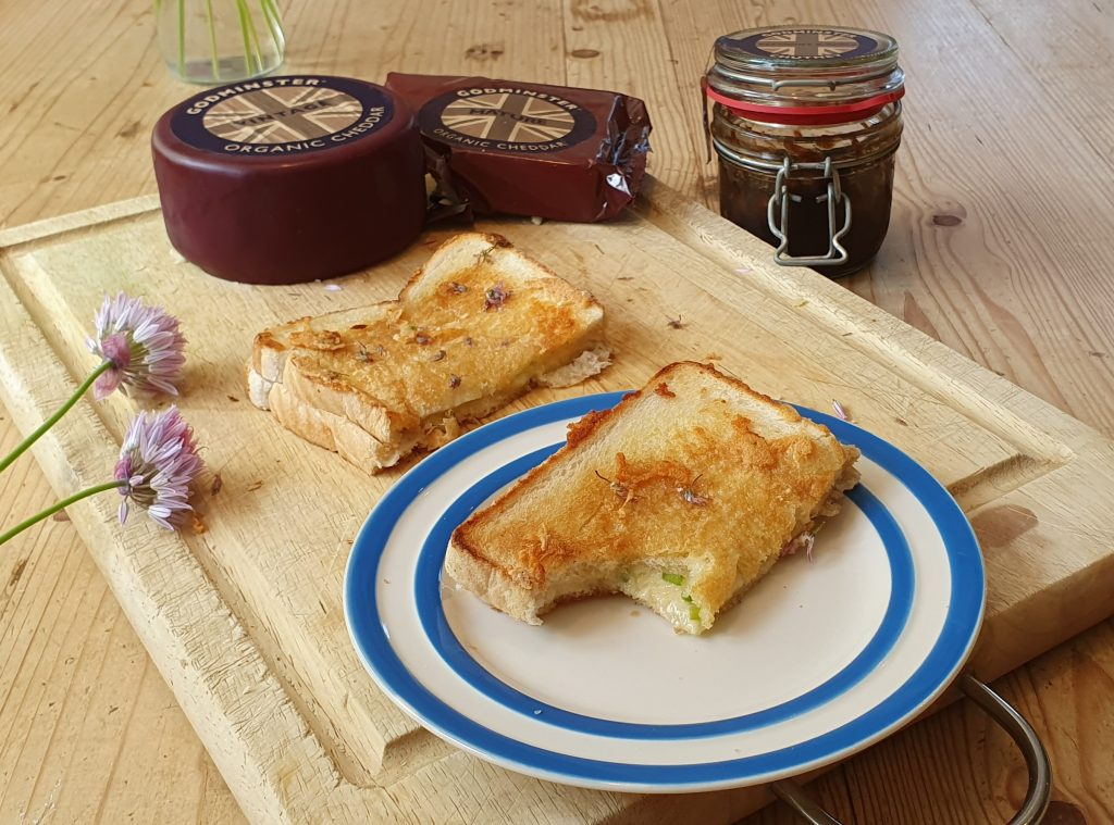 "Sarah's ""Cheesy on the Outside"" Godminster Chive Toastie"