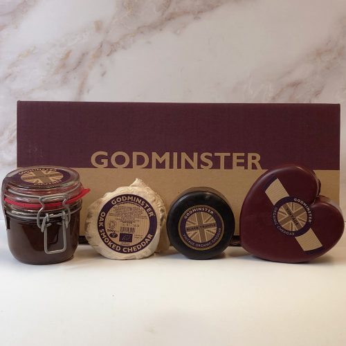 Godminster Limited Edition Cheeseboard Party Gift Set - Heart