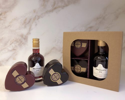 After Dinner Cheddar and Truffle Port Gift Set - Double Hearts