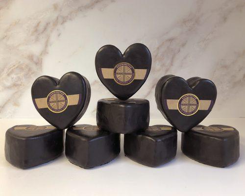 Case of Heart-Shaped Black Truffle Vintage Organic Cheddar
