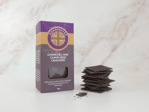 80g Charcoal and Cumin Seed Crackers with crackers