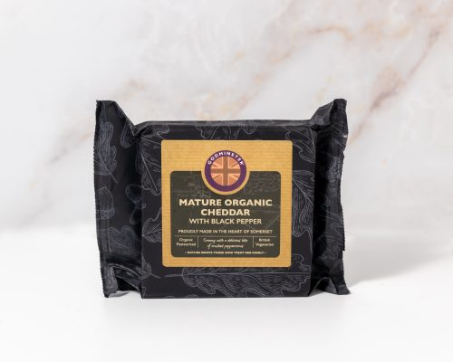 Mature Organic Cheddar with Black Pepper